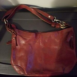 ValentinA dark red shoulder bag